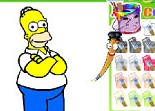 Coloring Homer Simpson
