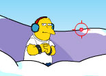 Springfield Snow Fight Simpsons