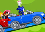 Mario vs Sonic Cars Game