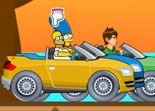 Simpson vs Ben 10 Cars Game