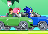 Sonic Vs Ben 10 Cars Game