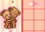 Teddy Bears in Love Kissing