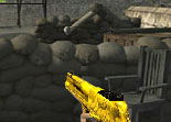 Gold Desert Eagle Guard Position Shooting