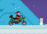 Santa Cross Snowmobile