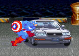 Captain America Destroy Car