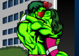 Hulk Kissing