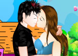 Young Lovers Kiss