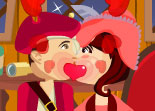 Pirate Couple Kiss
