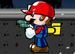 Mario Gunslinging Mushrooms