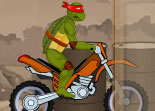 Ninja Turtle Motorcycle Stunts